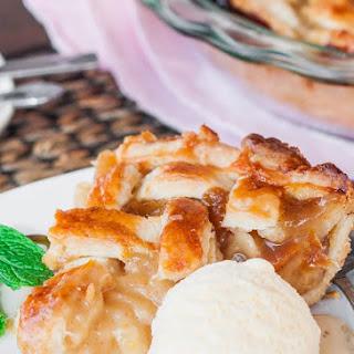 Scrumptious Caramel Pear Pie.