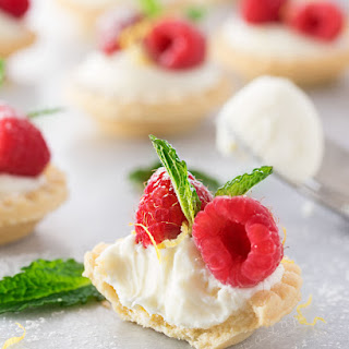No Bake White Chocolate Cheesecake Tarts