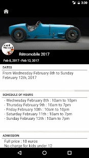 RETROMOBILE Capture d'écran