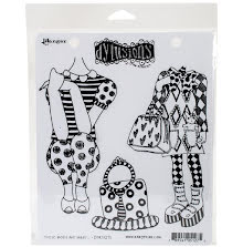 Dylusions Cling Stamps 8.5X7 - These Boots Are Made