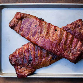 Ribs with Spicy Bourbon Barbecue Sauce.