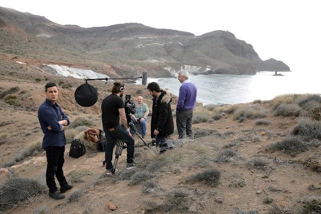 Grabación de la entrevista a Jon Apaolaza en el Parque Natural del Cabo de Gata-Níjar.