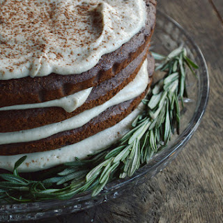 Chocolate Spice Cake with Fluffy Cashew Frosting