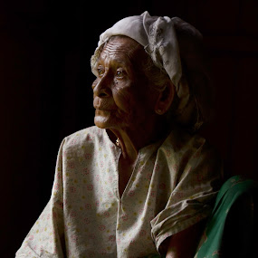 Lost in thoughts by Anis Ghazalli - People Portraits of Women ( old woman, portrait )