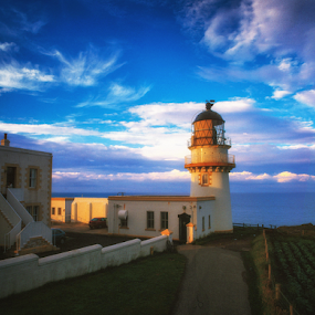 Tod  Head Lighthouse by Annette Flottwell - Buildings & Architecture Public & Historical ( lighthouse, nlb, phare, faro, scotland )
