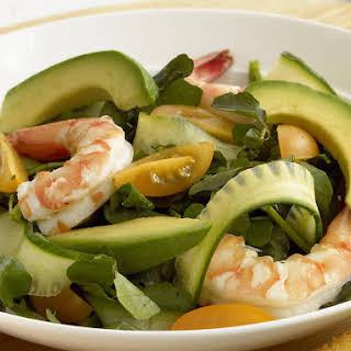 Avocado and Prawn Salad with Creamy Dill Dressing.