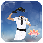 Lady Police Suit Icon