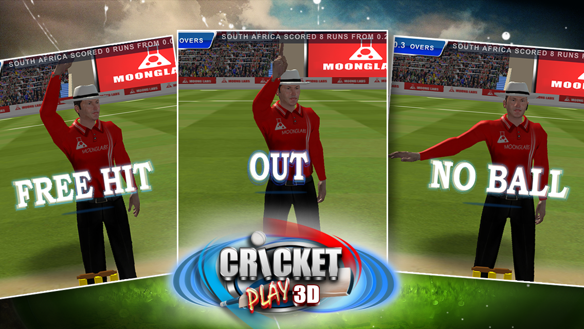 Cricket Play 3D: Live The Game- screenshot
