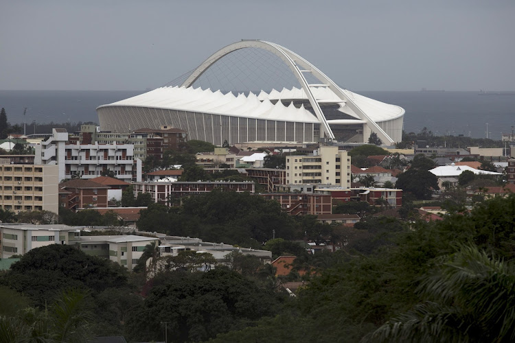 A general view of Moses Mabhida Stadium in Durban.
