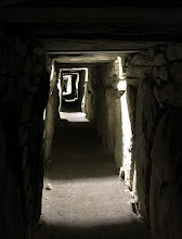 Photo: The passage inside the tomb at Knowth. The entire thing is built by stacking stones: they had not yet invented mortar, nails, or any other building technologies!