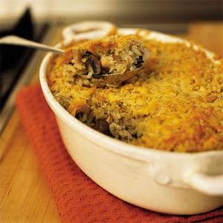 Mushroom and Turkey Casserole.