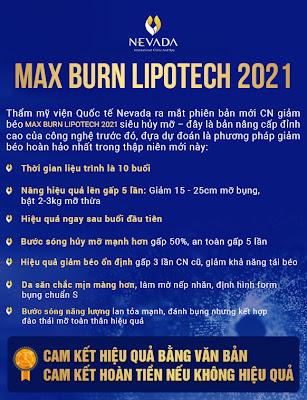 Giảm béo công nghệ MAX BURN LIPO siêu hủy mỡ của Mĩ