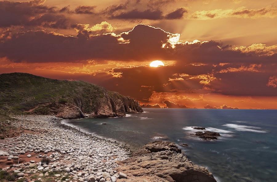 Glow at Sunset by Franco Salis - Landscapes Sunsets & Sunrises