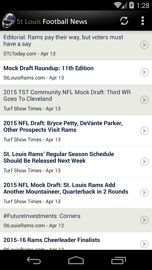 St Louis Football News- screenshot
