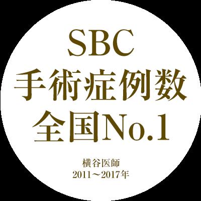 SBC 手術症例数 全国No.1 横谷医師 2011~2017年