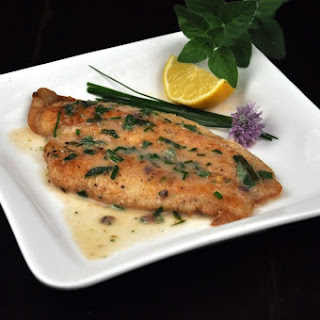 Crispy Flounder with Lemon Herb Sauce.