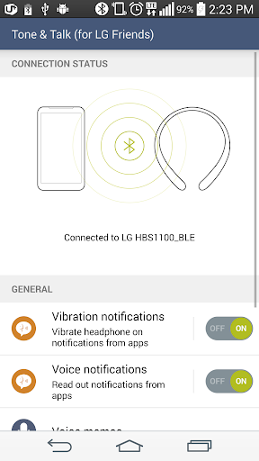 LG Tone & Talk(for LG Friends) 2.1.33 screenshots 2