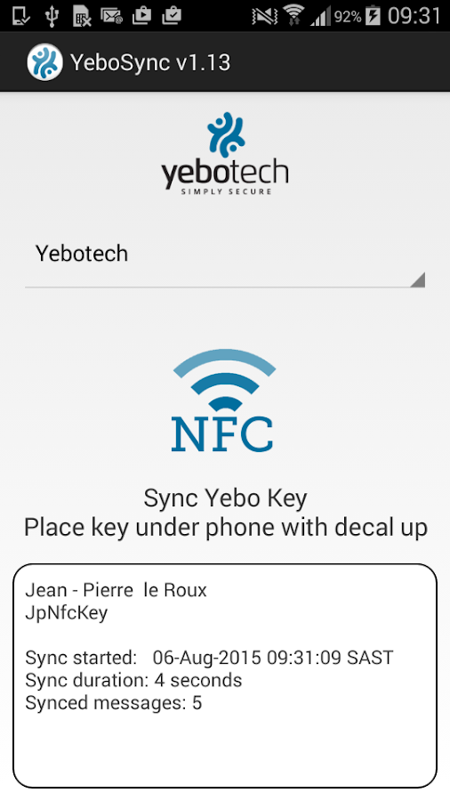 YeboSync- screenshot