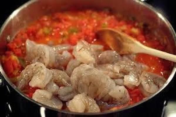 Stir In Large Shrimp Till Pink, Enjoy
