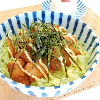 Karaage Donburi (Fried chicken bowl)
