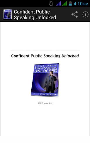 Confident Public Speaking.