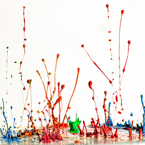 paint splat by Curtis Jones - Abstract Macro ( speaker paint, paint, paint drops )