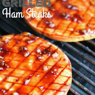 Sweet Teriyaki Grilled Ham Steaks.
