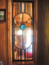 Photo: leaded glass window/solon maine