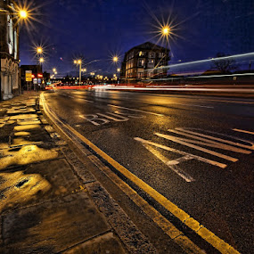 Night streets by Ian Pinn - City,  Street & Park  Street Scenes ( night lighting street, night, lights, Urban, City, Lifestyle,  )