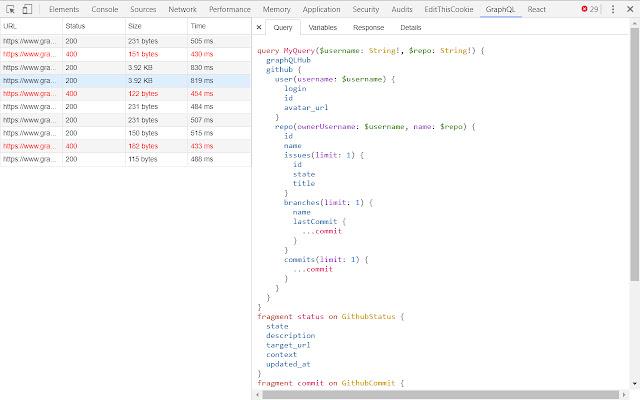 GraphQL developer tools