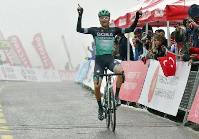 Felix Grosschartner (BORA-hansgrohe) cinquième étape du Tour de Turquie, Remco Evenepoel (Deceuninck - Quick-Step) termine quatrième