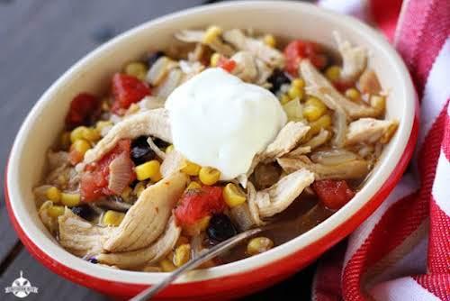"30 Minute Fiesta Chicken Soup""This 30 Minutes Fiesta Chicken Soup is just..."