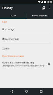 Flashify (for root users)– miniatura da captura de ecrã
