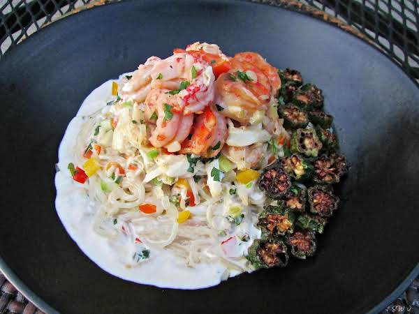 Whodat Pasta With Seafood Cream Sauce Recipe