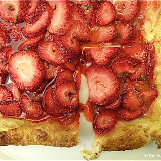 Strawberry Brunch Tart with Thyme and Black Pepper