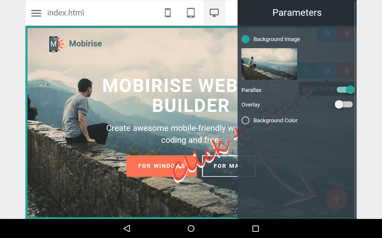 mobirise website builder android apps on google play mobirise website builder screenshot