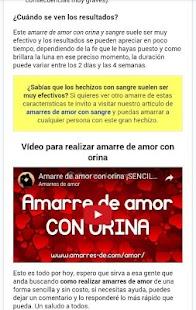 Amarres de Amor Screenshot