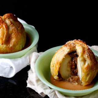 Streusel Stuffed Baked Apple Dumpling