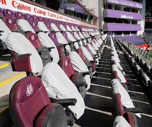 De kogel is door de kerk: opnieuw geen toeschouwers meer in onze stadions