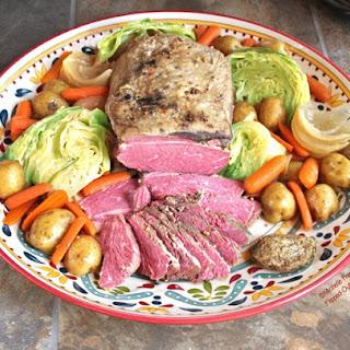 Make-ahead Crockpot Corned Beef & Cabbage.