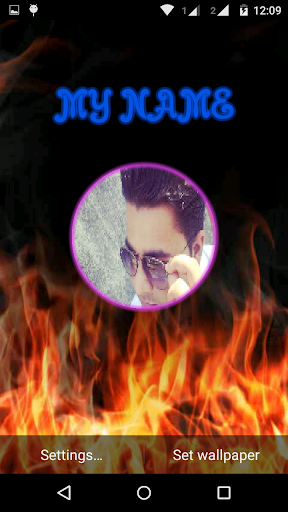 My Photo Name Fire LiveWP
