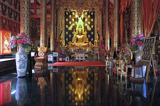 Photo: inside the main chapel of Wat Sutone