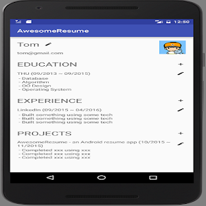 resume editor android apps on google play