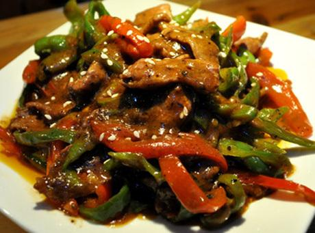 Oriental Beef With Peppers Recipe