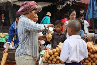 Photo: Year 2 Day 47 -  Bread Vendor in Sisopon