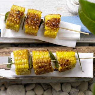 Corn Skewers with Bay Leaves