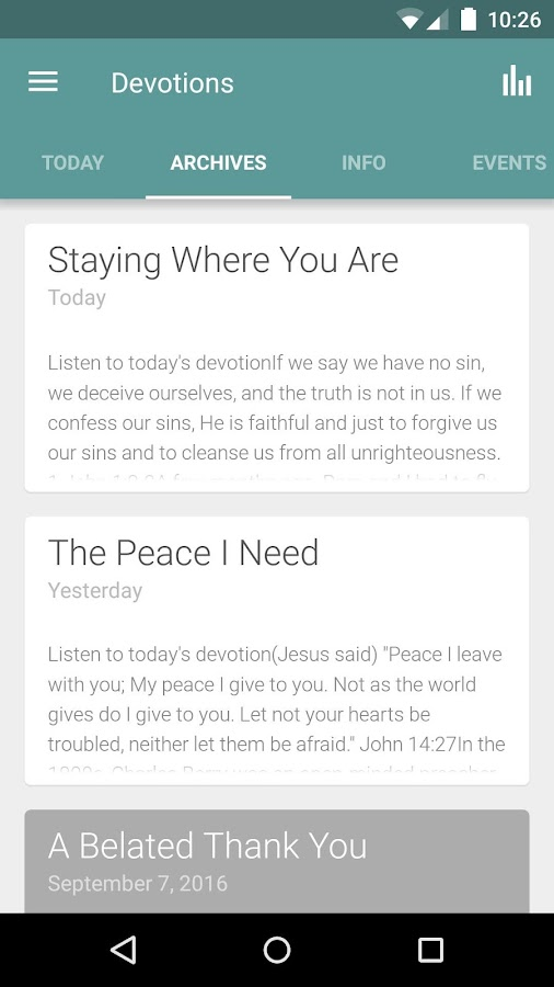 Daily Devotions by LHM- screenshot