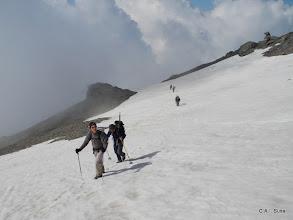 Photo: Attraversiamo molti nevai