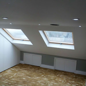 A loft that was turned into a rear dormer extension