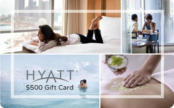Win a $500 Hyatt Digital Gift Card!